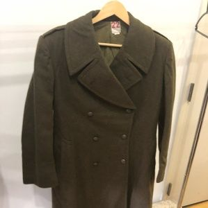 Other - Men's Army Green Wool Peacoat